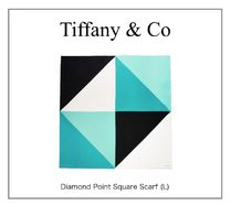 【TIFFANY】NEW! Diamond Point Square Scarf (L)☆