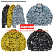 FW20 Supreme Black Ark Denim Trucker Jacket デニムジャケット