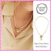 【VINTAGE HOLLYWOOD】Open Your Heart Pearl Necklace〜秋コレ