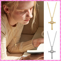 【VINTAGE HOLLYWOOD】2020 Delicated Texture Cross Necklace