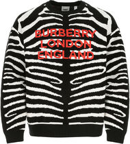 Burberry ▽EMBROIDERED WOOL BLEND SWEATER