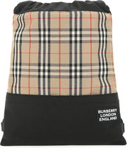 BURBERRY○TWO-TONE COTTON BLEND BACKPACK