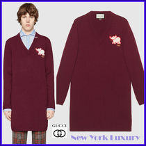 GUCCI★素敵!Maroon Red Wool Elephant Long Sweater Tunic