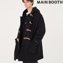 ★MAINBOOTH★Oversized Duffle Coat(BLACK)★正規品/直送料込