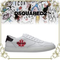 【DSQUARED2 メープルロゴが可愛い!!】Leather sneakers maple