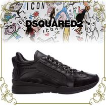 【DSQUARED2 黒が映える使い易い一足】 551 Lether Sneakers