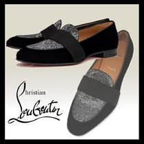 Christian Louboutin ◆ Night On The Nile ベルベット モカシン
