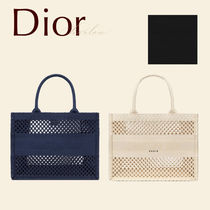 Dior ブック トート バッグ S 青 メッシュ CD ロゴ 新 限定 直営