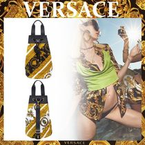 【VERSACE】ビーチバッグ*I ♡ バロック プリント*巾着式