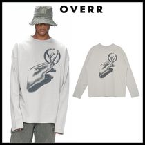 ☆OVERR☆ Tシャツ OVR COIN GRAY L/S T-SHIRTS