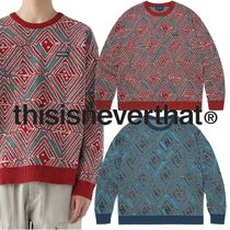 ★thisisneverthat★African Jacquard Sweater 2色