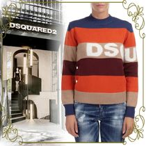【DSQUARED2 お洒落なロゴデザイン】Striped Knit Sweater