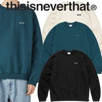 ★thisisneverthat★S-Crewneck Sweat 3色