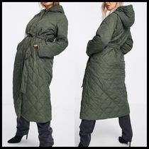 ASOS Missguided diamond quilted hooded coat
