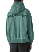 [thisisneverthat] Overdyed 1/4 Zip Hoodie Blue Green