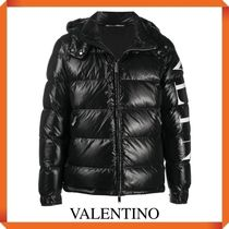 VALENTINO DOWN JACKET WITH VLTN PRINT ON THE LEFT SLEEVE