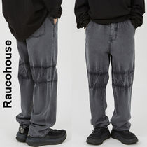 Raucohouse(ラウコハウス)★Part Tie-Dye Gray Denim Pants