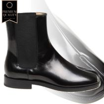 Maison Margiela Boot In Brushed Leather Color Black