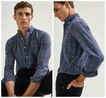 Massimo Dutti【NEW】Regular fit checked cotton shirt
