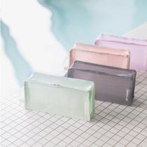 【by.fulldesign】Coated Mesh Pouch Cube Long