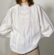"""""""Massimo Dutti"""" Embroidered cotton and linen shirt White"""