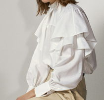 """Massimo Dutti"" Embroidered cotton and linen shirt White"