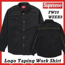 Supreme Logo Taping Work Shirt FW AW 20 WEEK 8