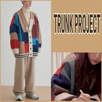 人気 BTS着用!!◆TRUNK PROJECT◆Color Mixed Wool カーディガン