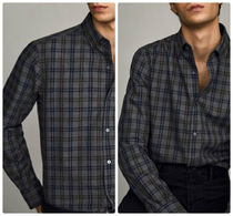 Massimo Dutti【NEW】Slim fit check 100% cotton shirt