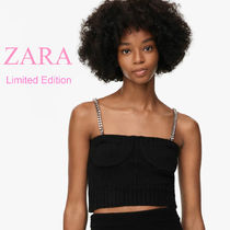 ZARA【LIMITED EDITION】CHAIN STRAP KNIT TOP