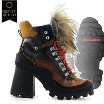 Dsquared2 Queen Peak Brown Heleed Ankle Boot