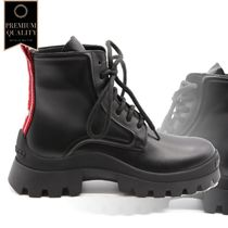 Dsquared2 Black Leather Boots With Logo