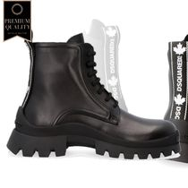 Dsquared2 Leather Combat Boots