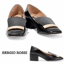 ☆Sergio Rossi☆SR1 leather collapsible-heel pumps ヒール