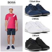 Hugo Boss(ヒューゴボス) メンズ・シューズ 【HUGO BOSS】☆ゴルフ☆ Low-top trainers with knitted uppers