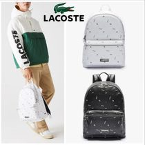 【LACOSTE ラコステ】プリント キャンバスLSCTバックパック