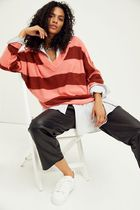 Free People ★ Think Of You Stripe Cashmere Tunic