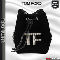 TOM FORD☆トムフォード VELVET CRYSTAL MINI BUCKET BAG
