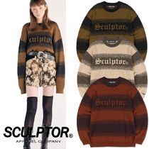 ★SCULPTOR★ Pixel Logo Brush Sweater 3色