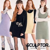★SCULPTOR★ Fuzzy Slip Dress 4色