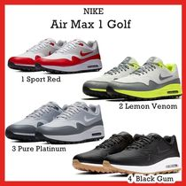 Nike Air Max 1 Golf  Sport Red Lemon Pure Platinum Black Gum