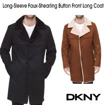 DKNY(ディーケーエヌワイ) コートその他 ディーケーエヌワイト Faux-Shearling Button Frontロングコート