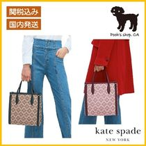 【Kate Spade】spade flower coated canvas M tote◆国内発送◆