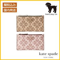 【Kate Spade】spade flower coated canvas wallet◆国内発送◆