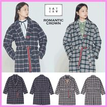 ☆ROMANTIC CROWN☆CLASSIC CHECK WOOL COAT ウールコート☆2色