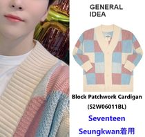 【General IDEA】Block Patchwork Cardigan ★Seungkwan着用★