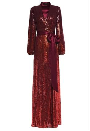 Jenny Packham ワンピースその他 JENNY PACKHAM☆Sequined satin-trimmed silk-georgette gown(2)