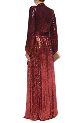 Jenny Packham ワンピースその他 JENNY PACKHAM☆Sequined satin-trimmed silk-georgette gown(4)