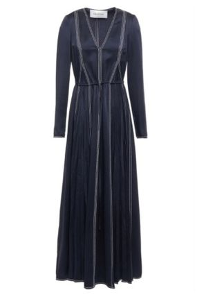 VALENTINO ワンピース [関税・送料込] VALENTINO☆Pleated satin-crepe maxi dress(2)