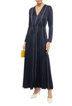 VALENTINO ワンピース [関税・送料込] VALENTINO☆Pleated satin-crepe maxi dress(3)